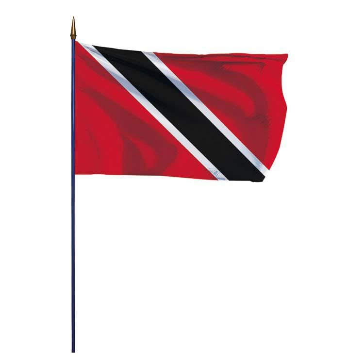 Drapeau Trinité-et-Tobago sur hampe