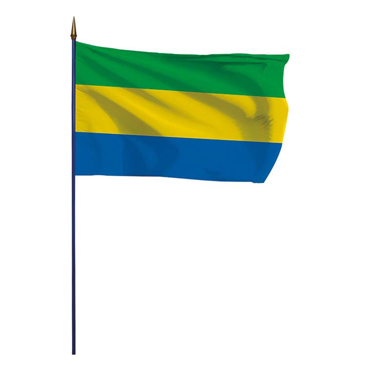 Drapeau Gabon sur hampe