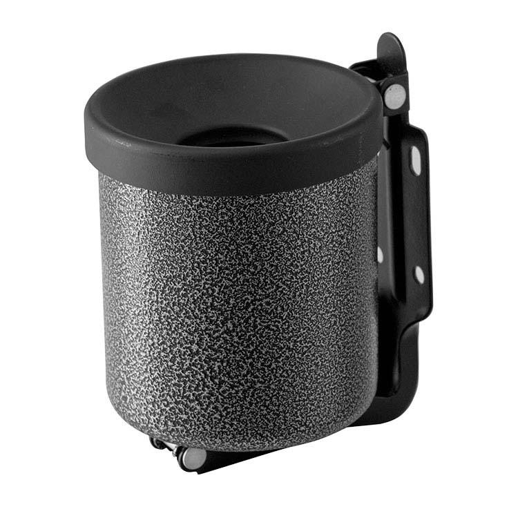 Cendrier cylindrique Gris martelé 2L