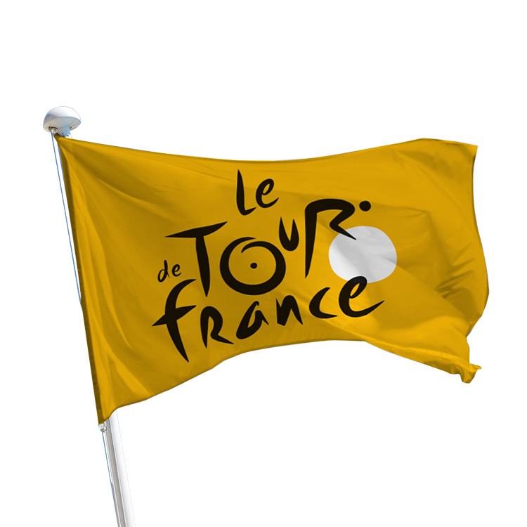 Pavillon du Tour de France - logo sur fond jaune