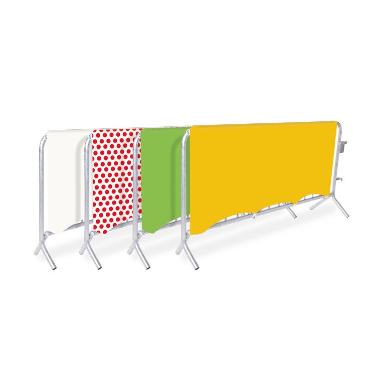 Habillage de barrière de sécurité aux couleurs du Tour de France