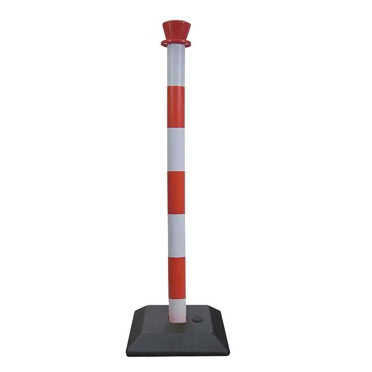 Poteau PVC Budget lesté rouge/blanc