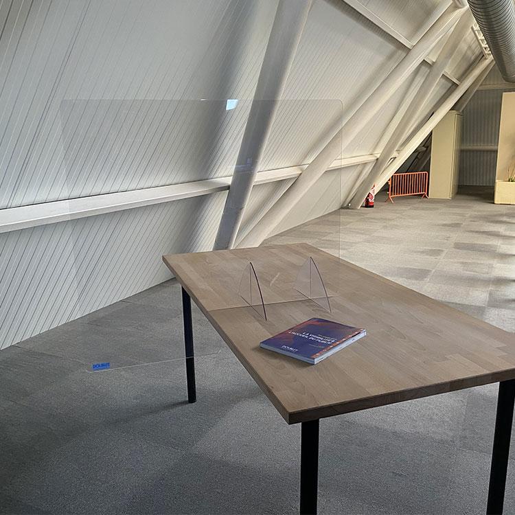 Paroi vitrée pour séparation de bureau - H. 80 x L. 85 cm