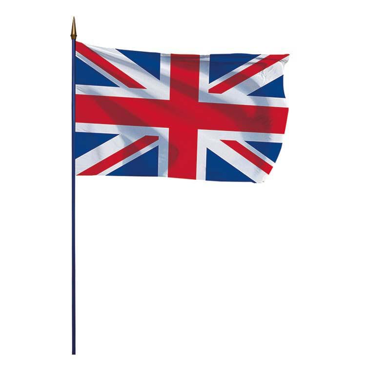 Drapeau Royaume-Uni sur hampe