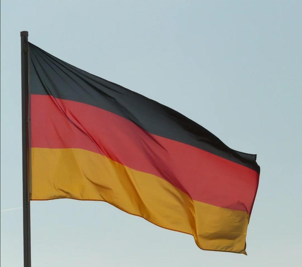 Fahne Deutschland quer