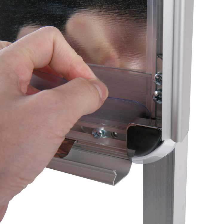 Kundenstopper Clip-Clap Schutz