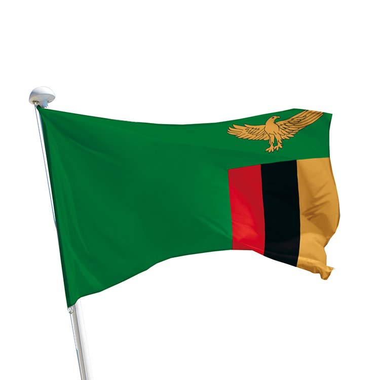 Drapeau Zambie pour mât