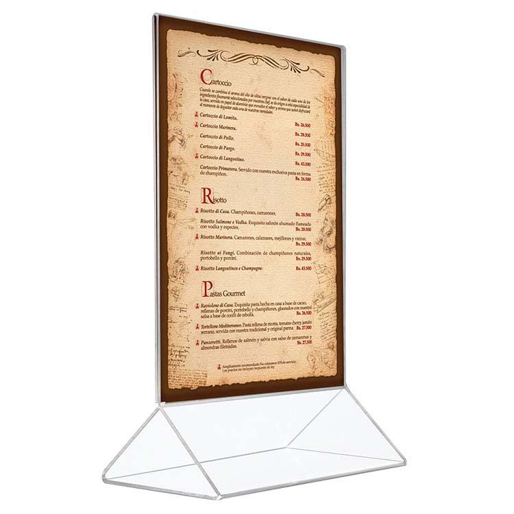 Porte affiche de comptoir format A4 / A5 et A6