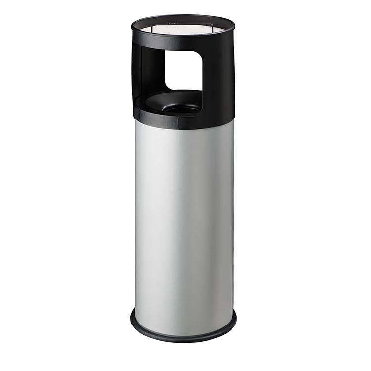 Cendrier Corbeille Autoextint gris - 30 litres
