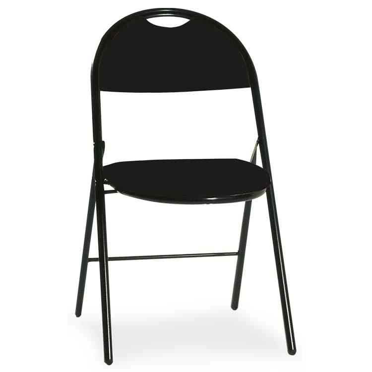 Chaise Roma vinyle assemblable M2 noir