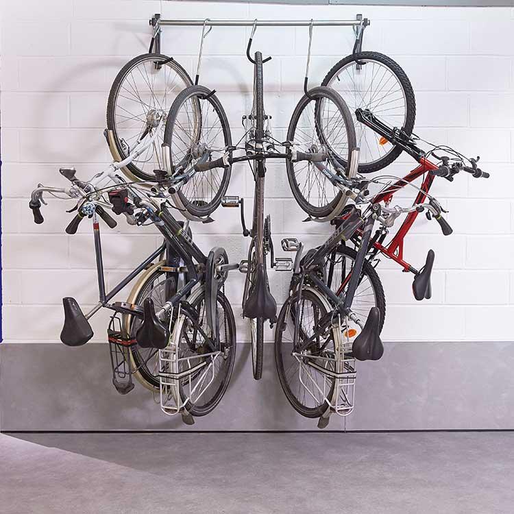 Rack à vélo mural coulissant avec cycles