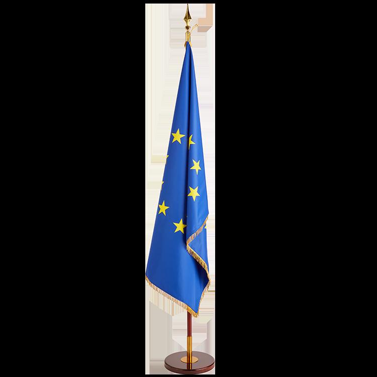 Drapeau Europe à franges sur socle
