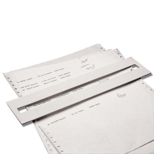 Réglette pour signature des registres