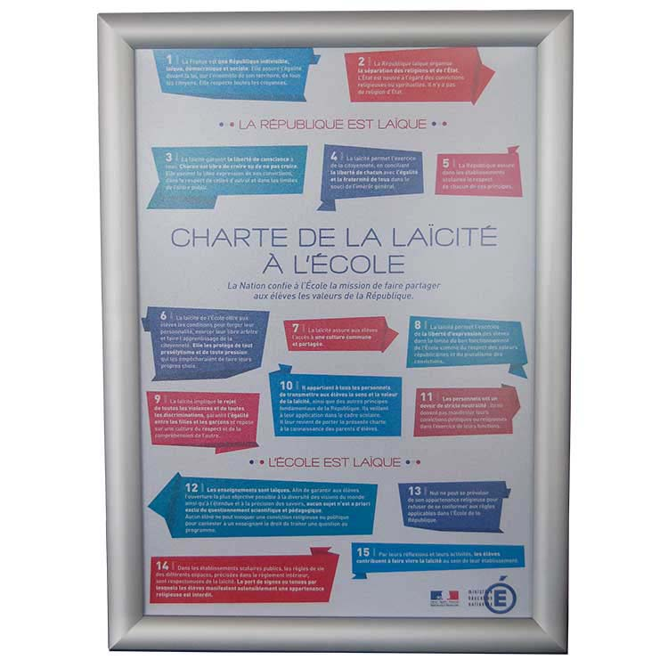 cadre mural charte laicité