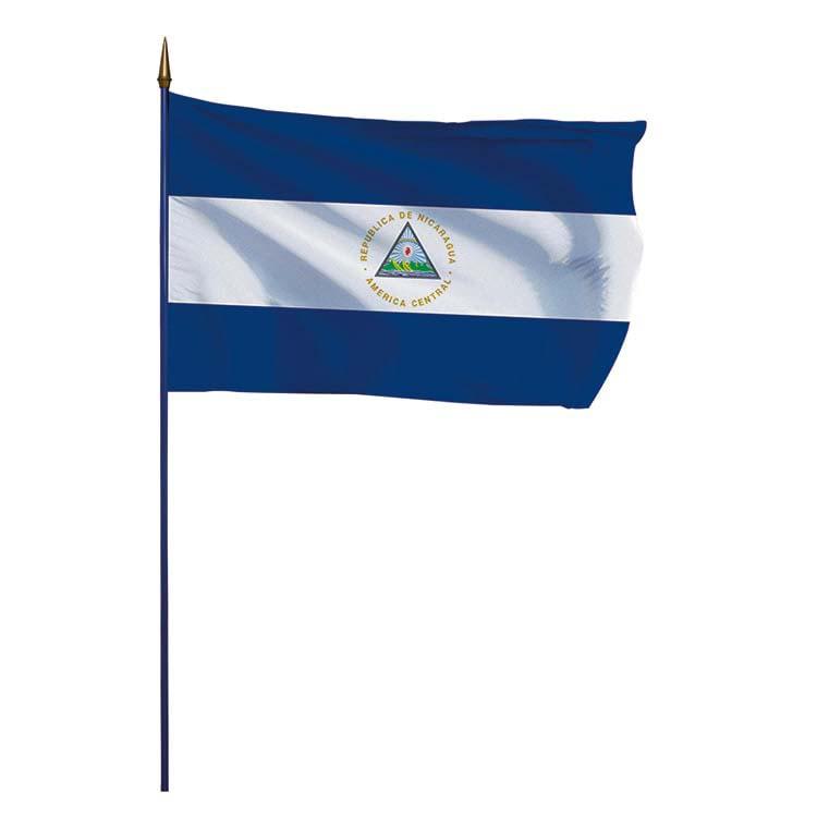 Drapeau Nicaragua sur hampe
