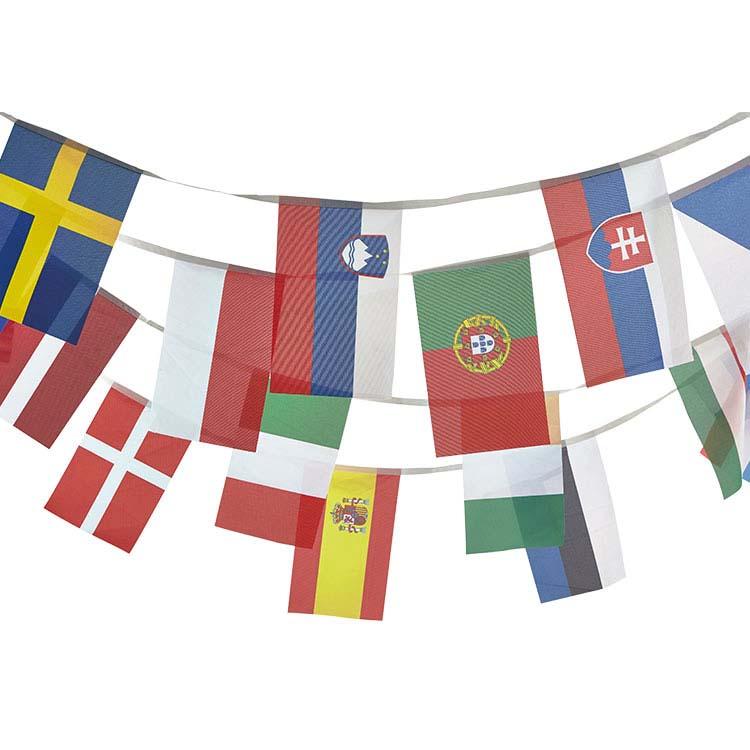 Guirlande tissu 28 pays européens
