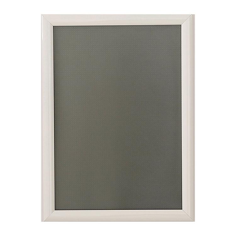 Porte affiche intérieur blanc Clip-clap 25 mm
