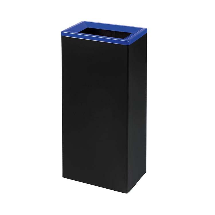 Corbeille Quadratri noir/couv. bleu - 42 litres