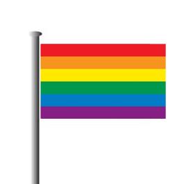 Regenbogenfahne quer neu
