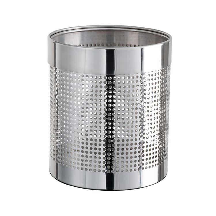 Corbeille à papier Tuby Inox perforé - 11 litres