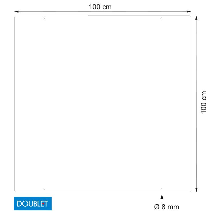 Vitrine de protection à suspendre L. 100 x h. 100 cm