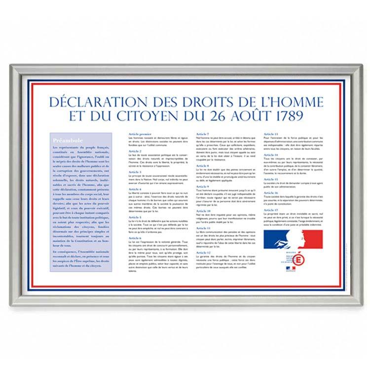 Affiche declaration des droits de l'homme écoles