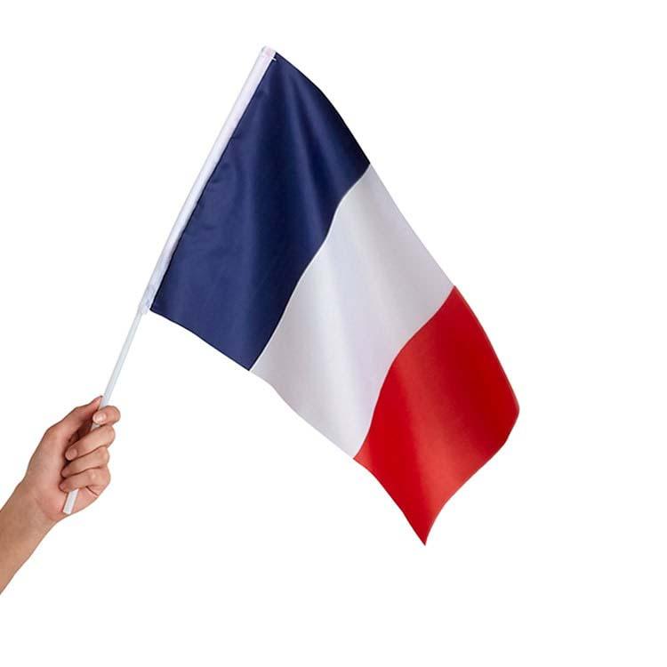 Mini drapeaux français en tissu 75 x112