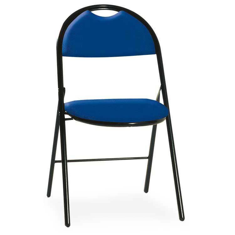 Chaise Roma vinyle assemblable M2 bleu