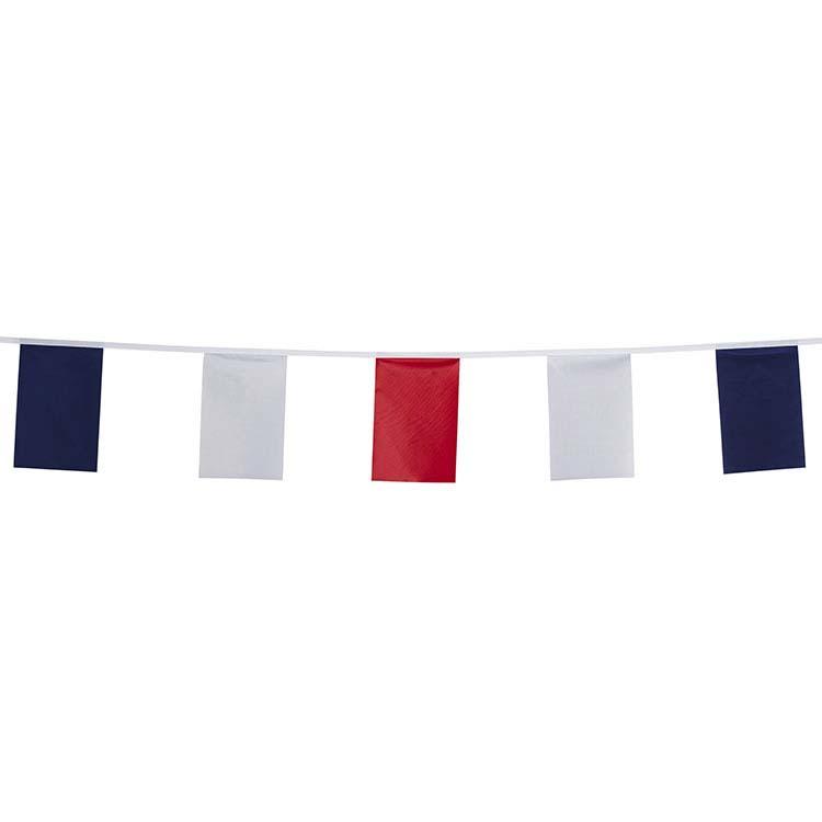 Guirlande tissu tricolore bleu blanc rouge