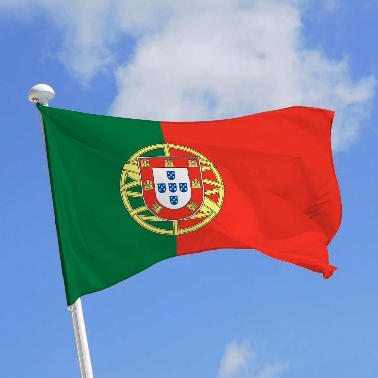 Drapeau portugal pavillon portugais en vente doublet - Drapeau portugais a imprimer ...