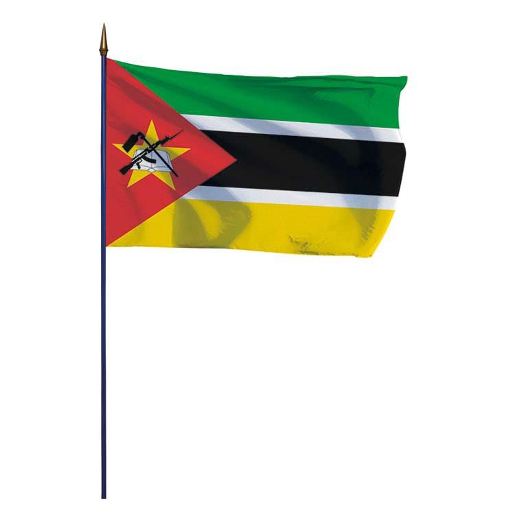 Drapeau Mozambique sur hampe