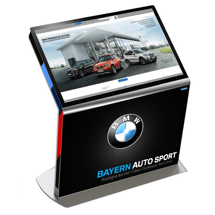 Borne tactile DP BMW - Affichage dynamique