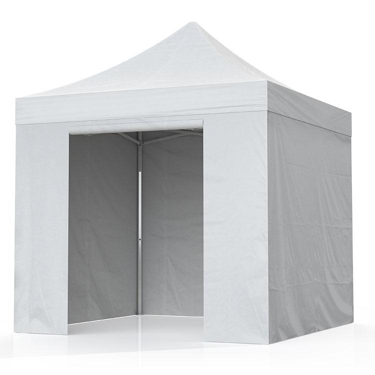 Tente pliante Eos bâche PVC blanc - toit et cloisons