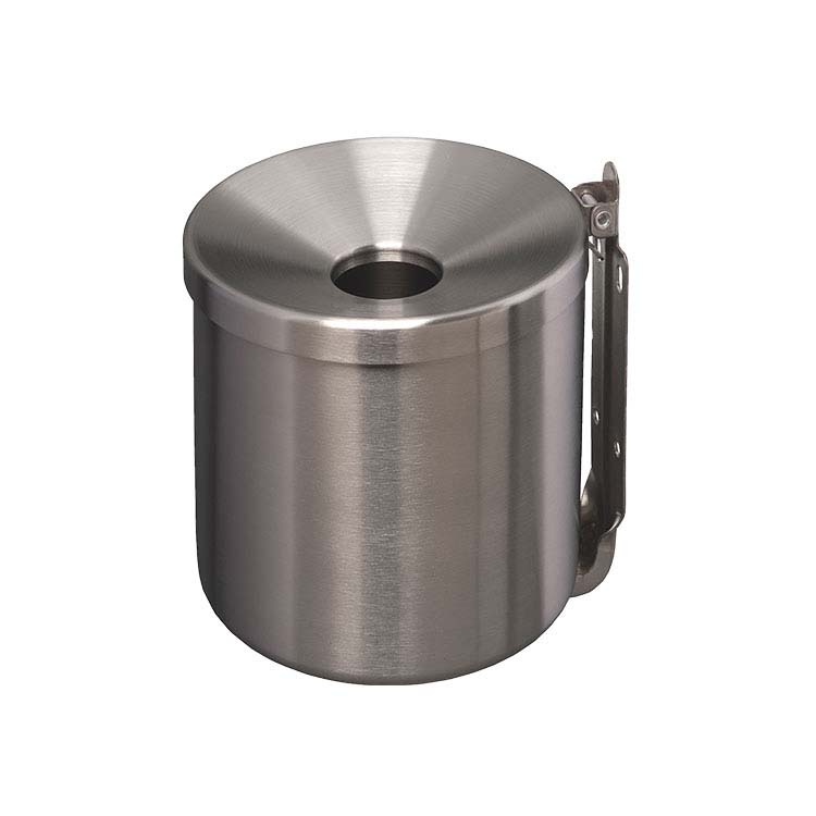 Cendrier cylindrique Inox 2L