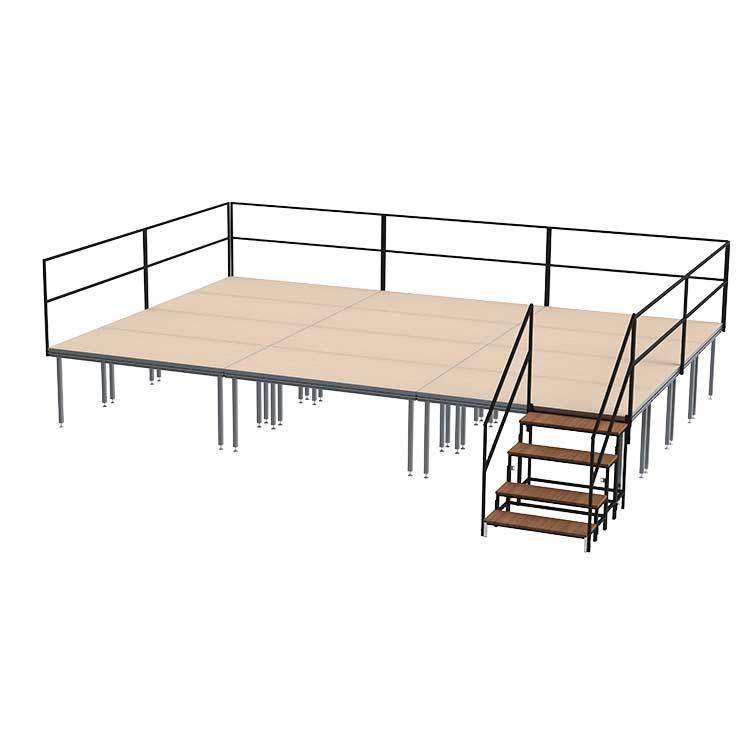 podium d'intérieur modulable en hauteur