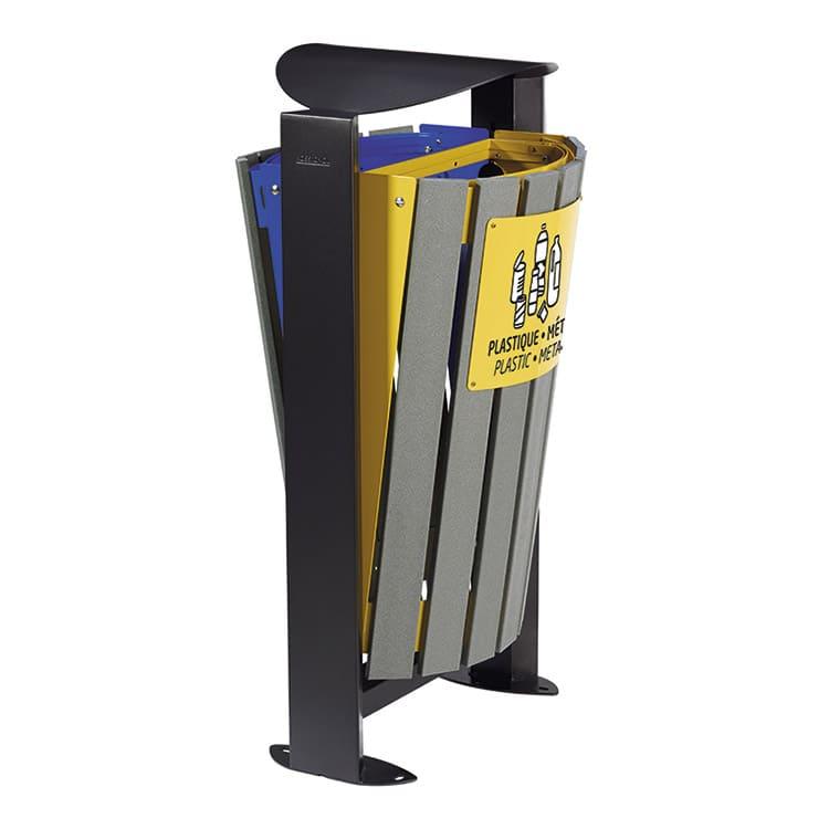 Support sac-poubelle Arkea Etik Bleu/jaune - 2 x 60 L