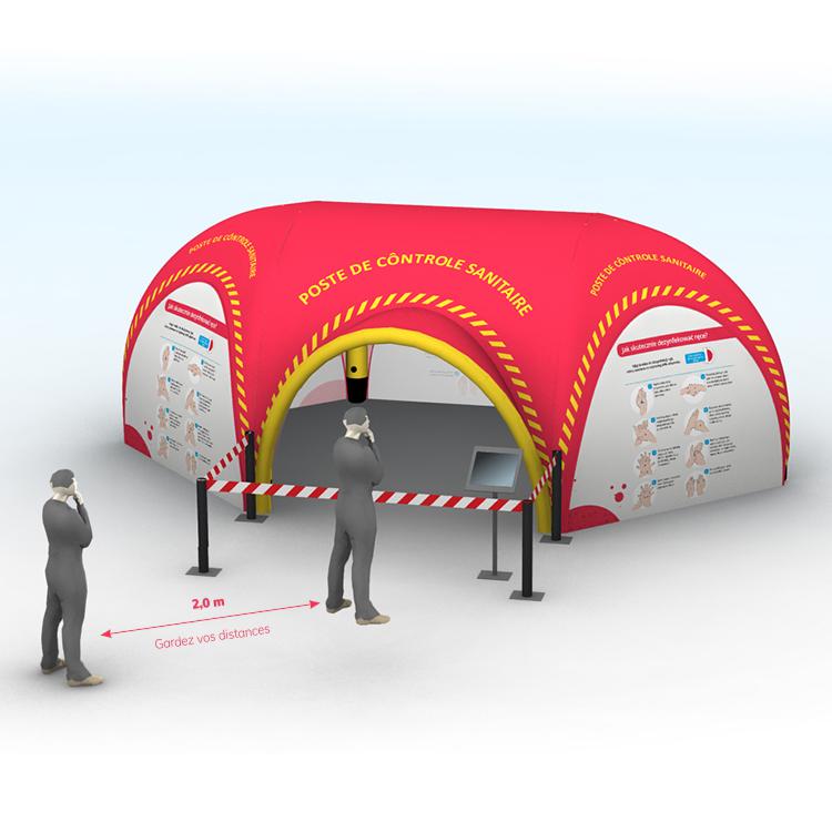Tente gonflable de secours - urgence sanitaire