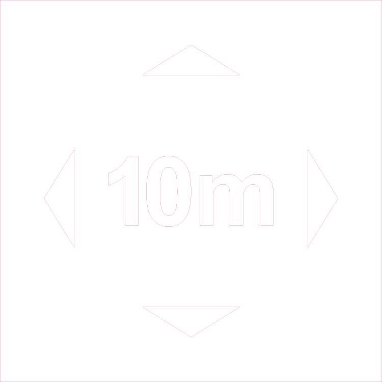 Pochoir distance de sécurité - 10 mètres