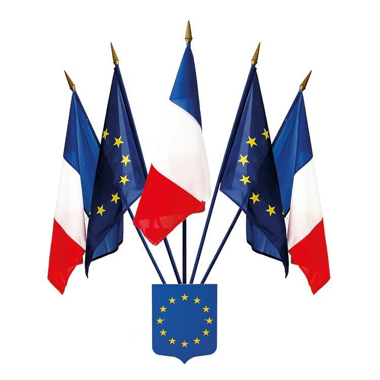 Écusson Union Européenne avec 5 drapeaux