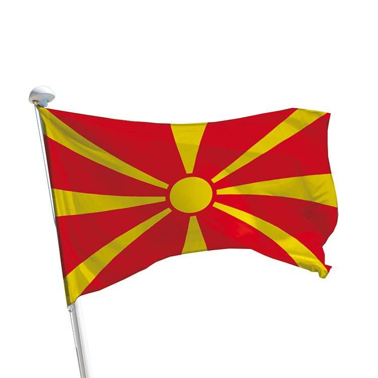 Drapeau Macédoine pour mât