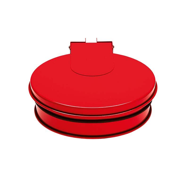 Support sac-poubelle Plain mural - rouge