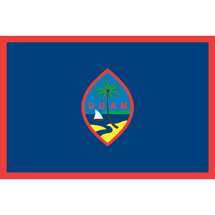 Drapeau Guam sur hampe