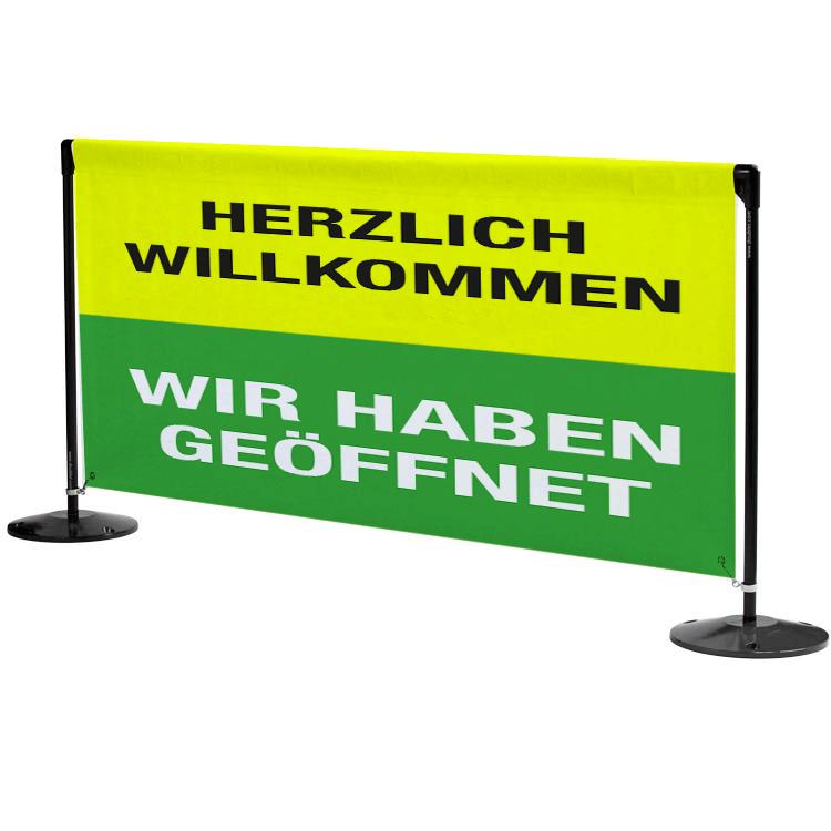 Pfosten mit Banner Öffnung