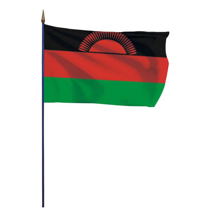 Drapeau Malawi sur hampe