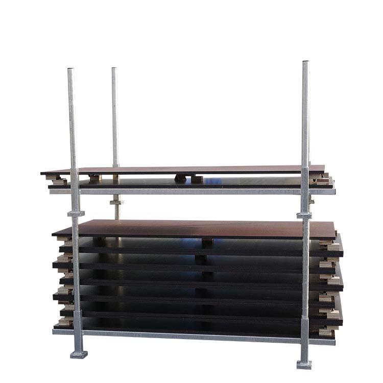 Rack accessoires podium