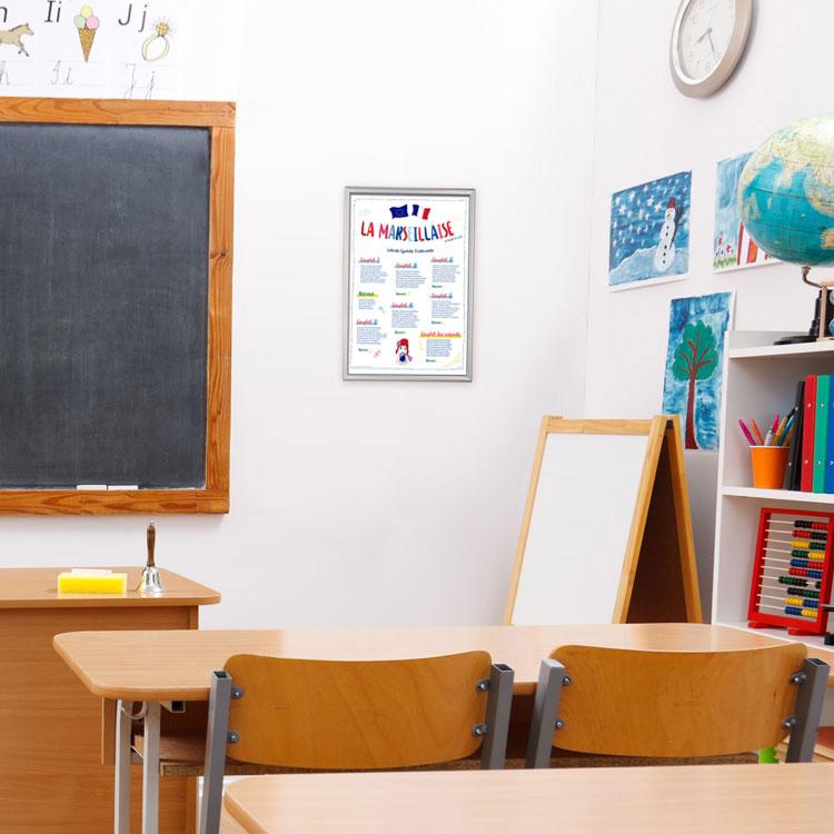 Affiche Loi Blanquer dans école