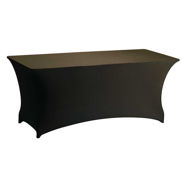 Housse stretch chocolat pour table pliante rect. 183 x 76 cm