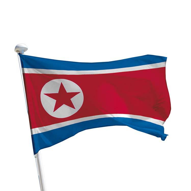 Drapeau Corée du Nord pour mât