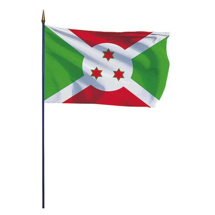 Drapeau Burundi sur hampe