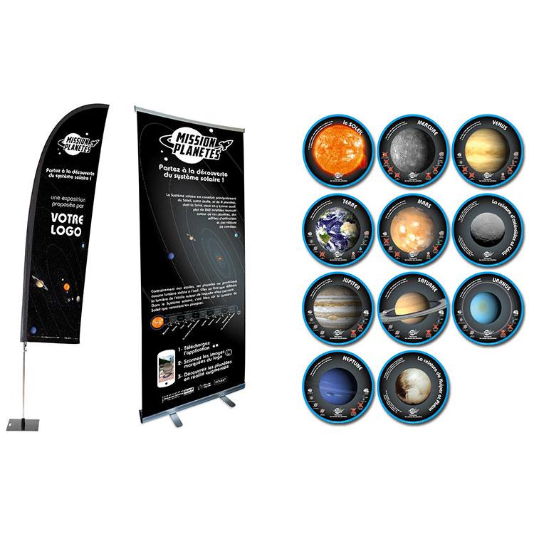 Exposition Mission Planètes pour moyennes structures